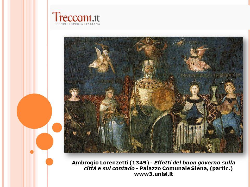 Ambrogio Lorenzetti (1349) - Effetti del buon governo sulla città e sul contado - Palazzo Comunale Siena, (partic.)