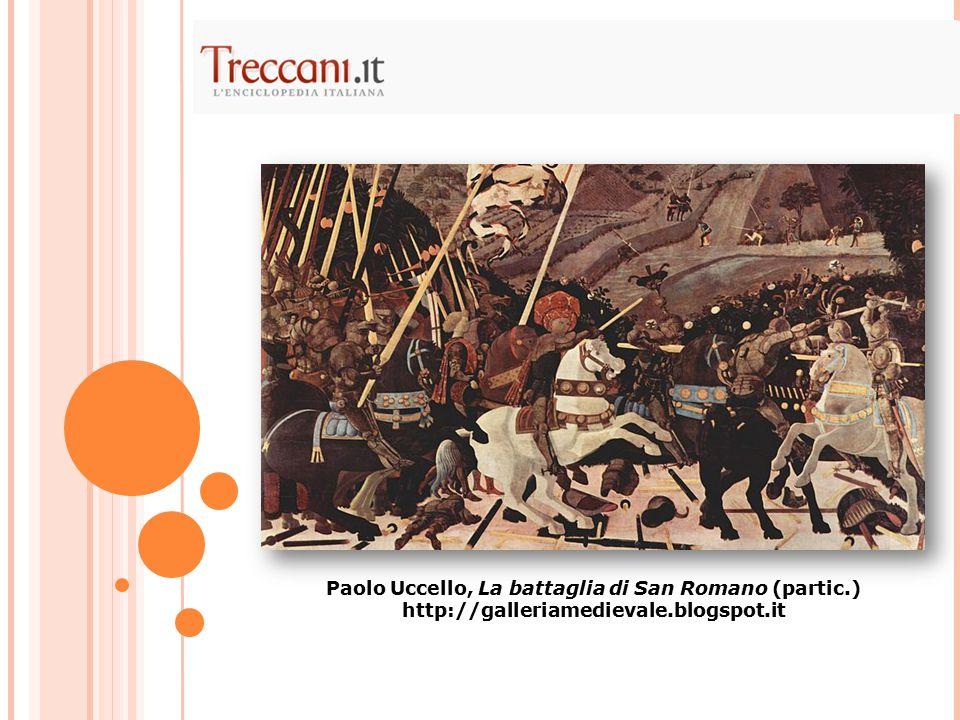 Paolo Uccello, La battaglia di San Romano (partic.)