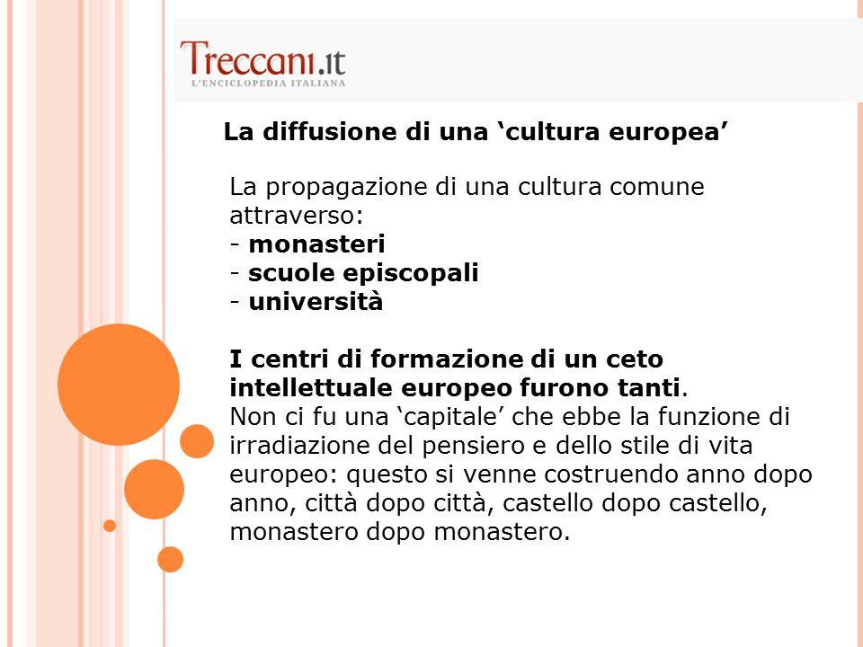 La diffusione di una 'cultura europea'