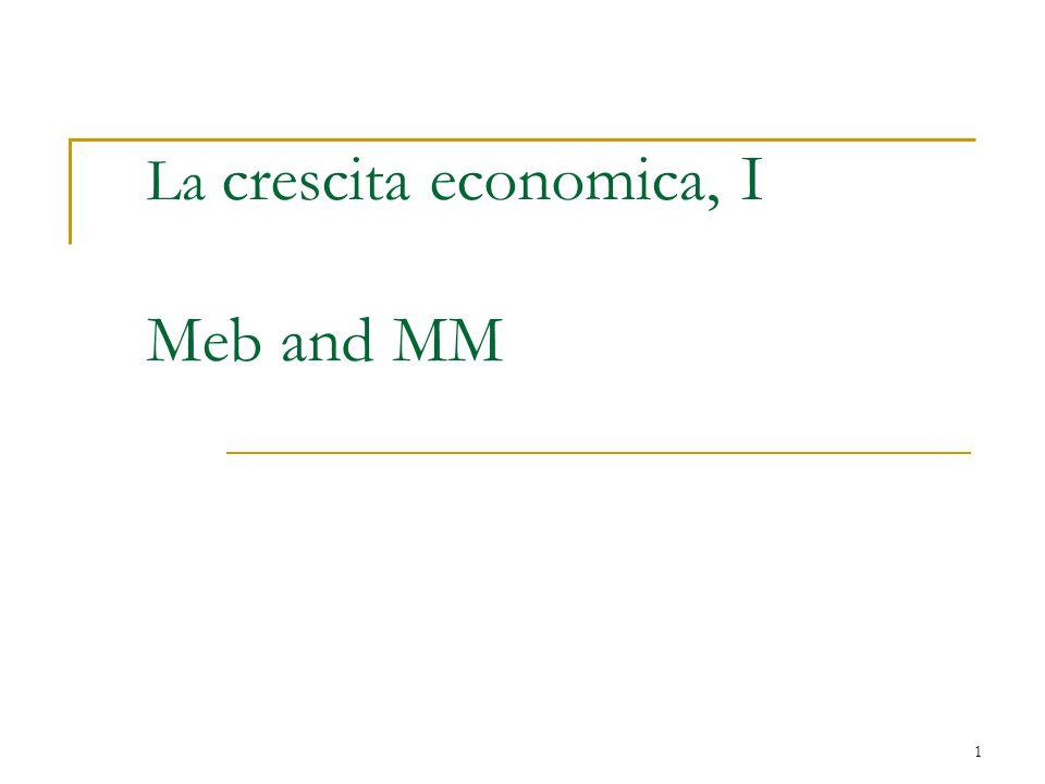 La crescita economica, I