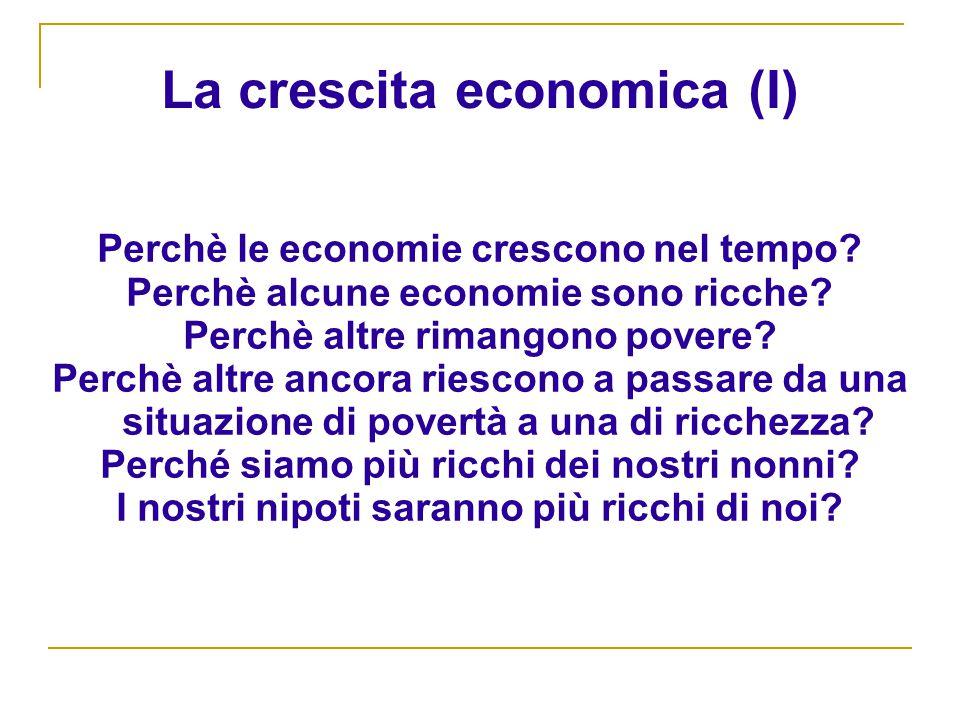 La crescita economica (I)