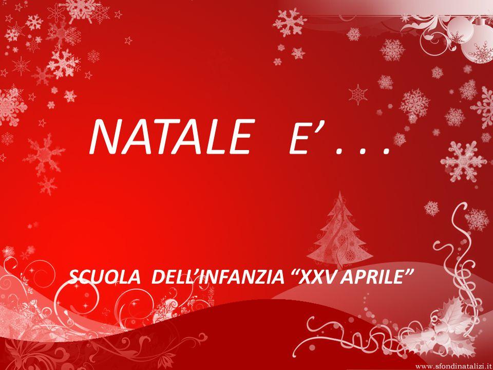 SCUOLA DELL'INFANZIA XXV APRILE