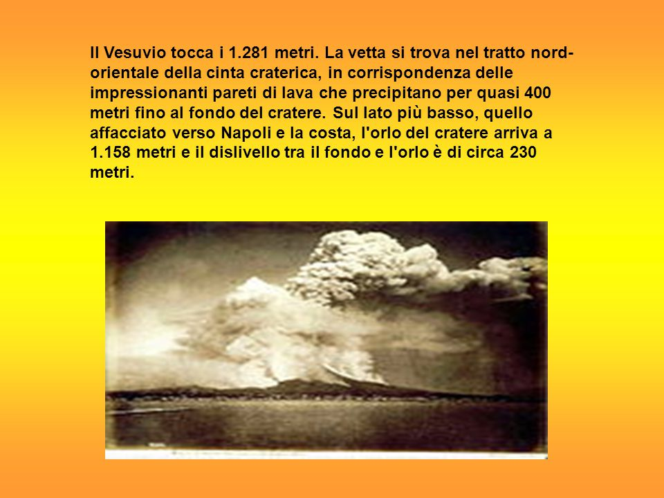 Il Vesuvio tocca i 1. 281 metri