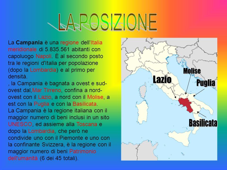 LA POSIZIONE Molise Lazio Puglia Basilicata