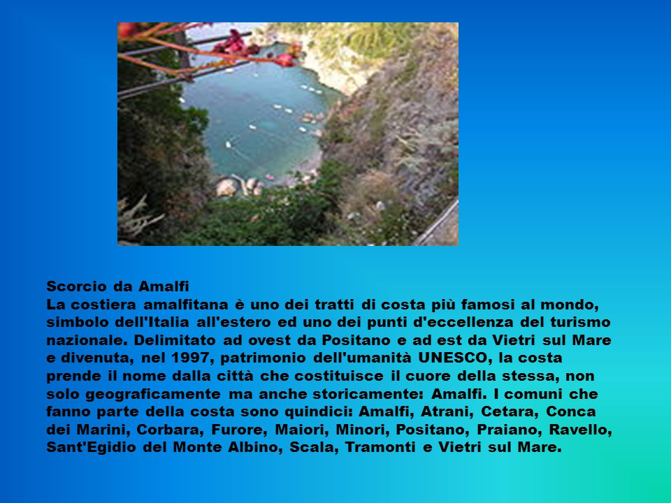 Scorcio da Amalfi