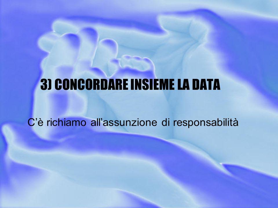 3) CONCORDARE INSIEME LA DATA