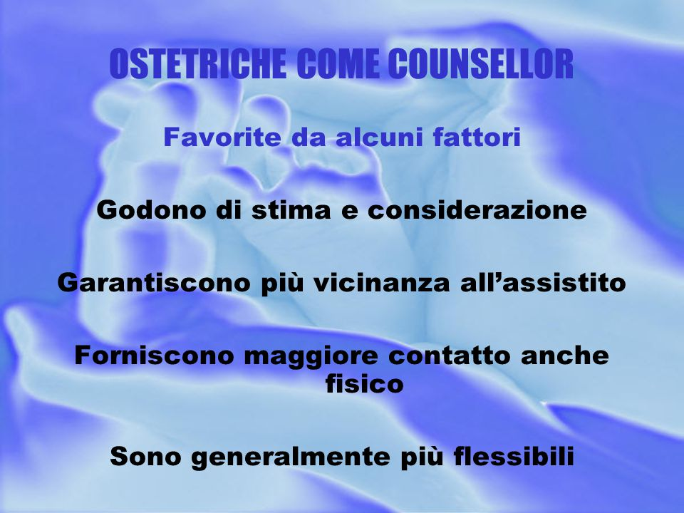 OSTETRICHE COME COUNSELLOR