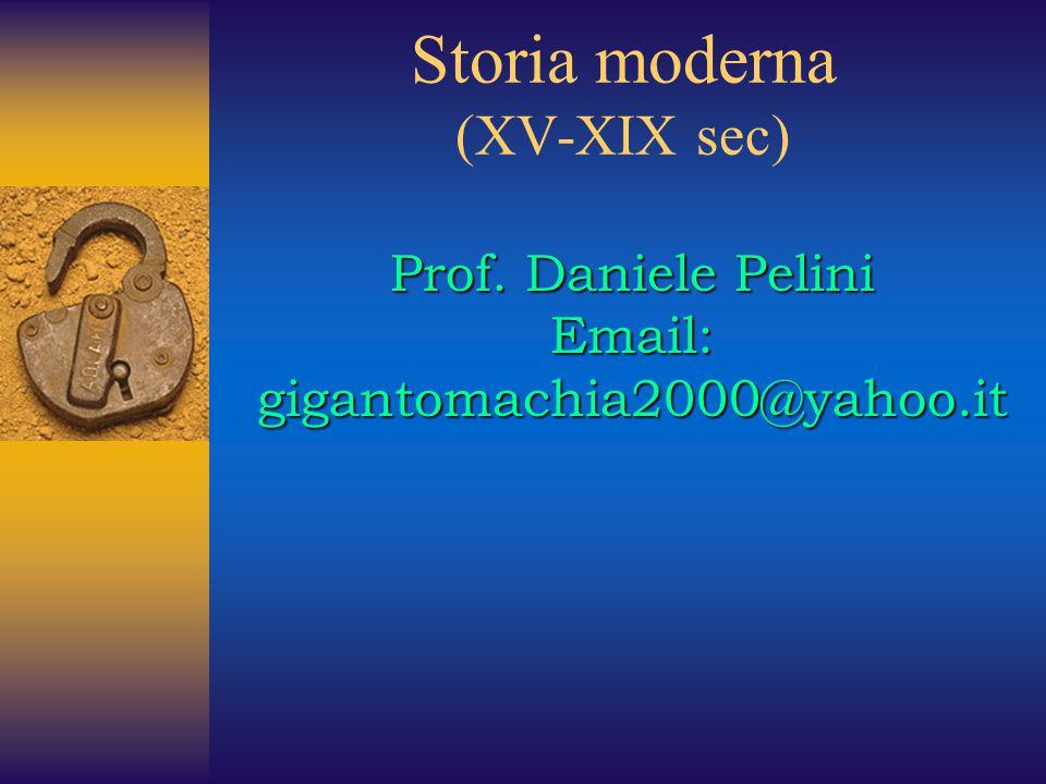 Storia moderna (XV-XIX sec)