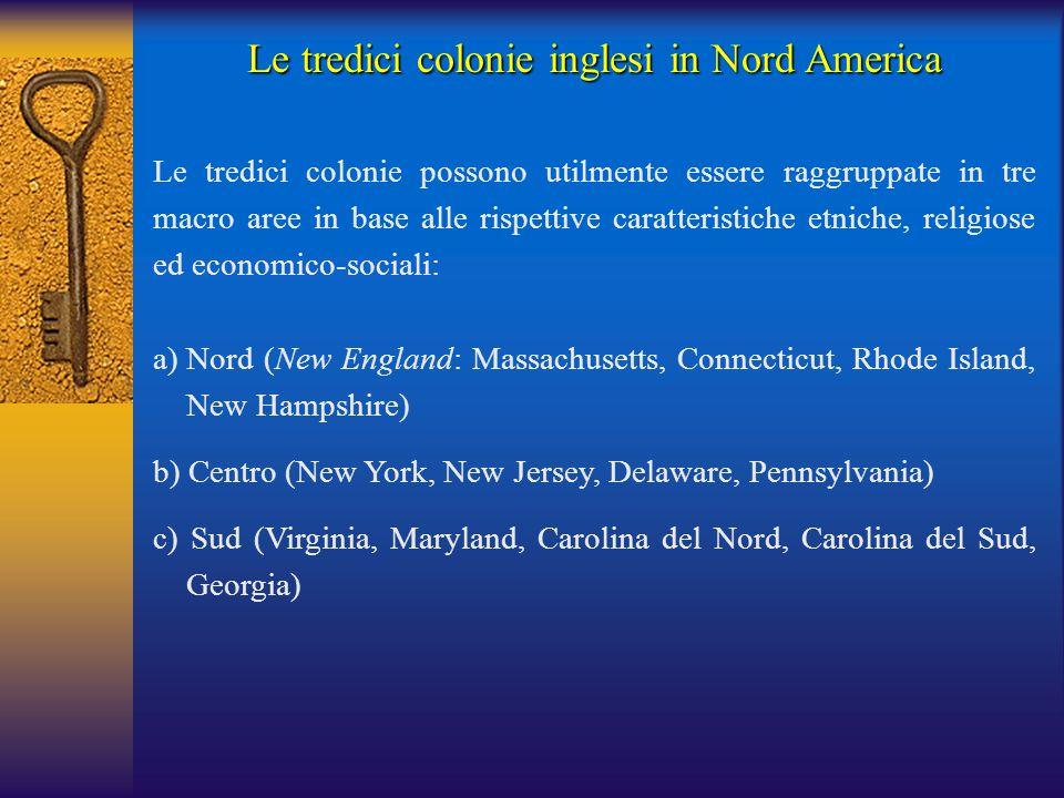 Le tredici colonie inglesi in Nord America
