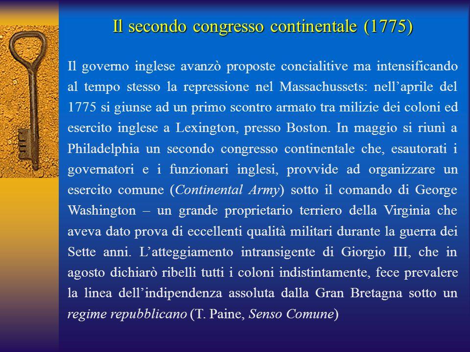 Il secondo congresso continentale (1775)