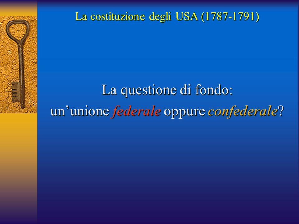 un'unione federale oppure confederale