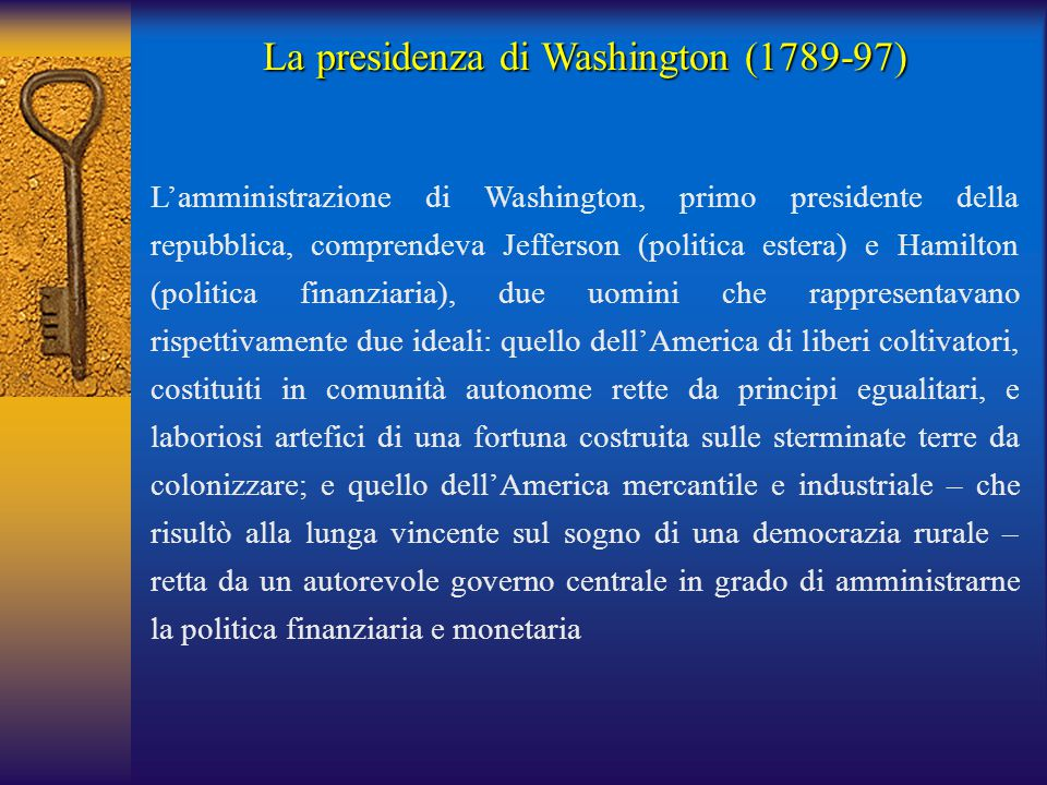 La presidenza di Washington (1789-97)