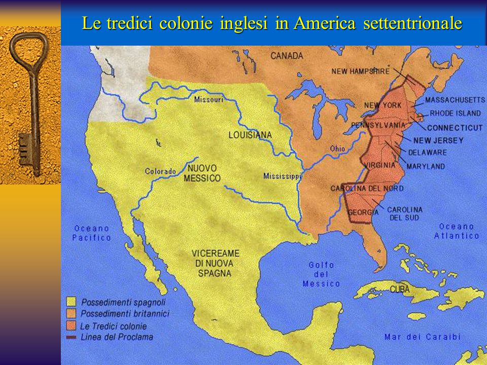 Le tredici colonie inglesi in America settentrionale