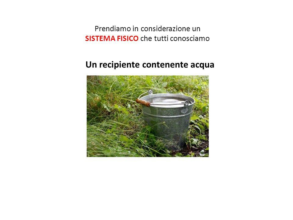Un recipiente contenente acqua