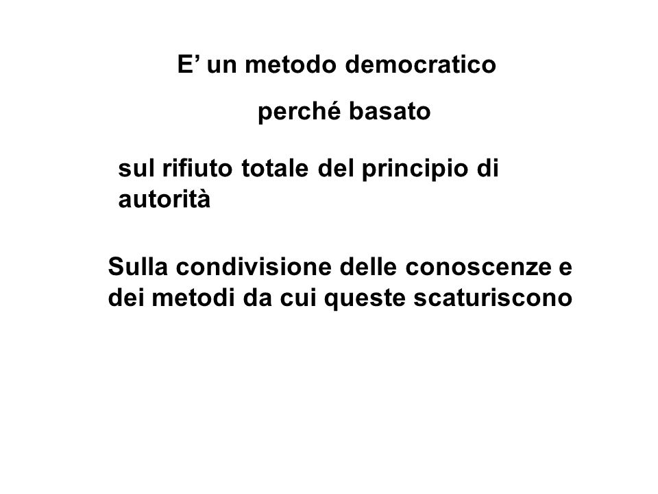 E' un metodo democratico