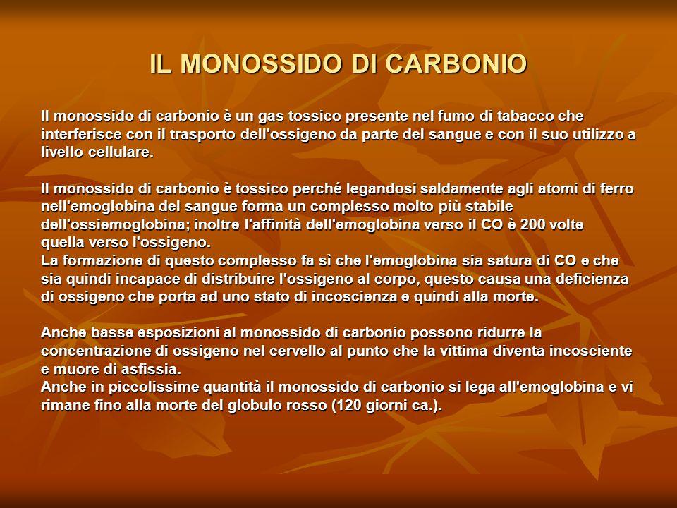 IL MONOSSIDO DI CARBONIO
