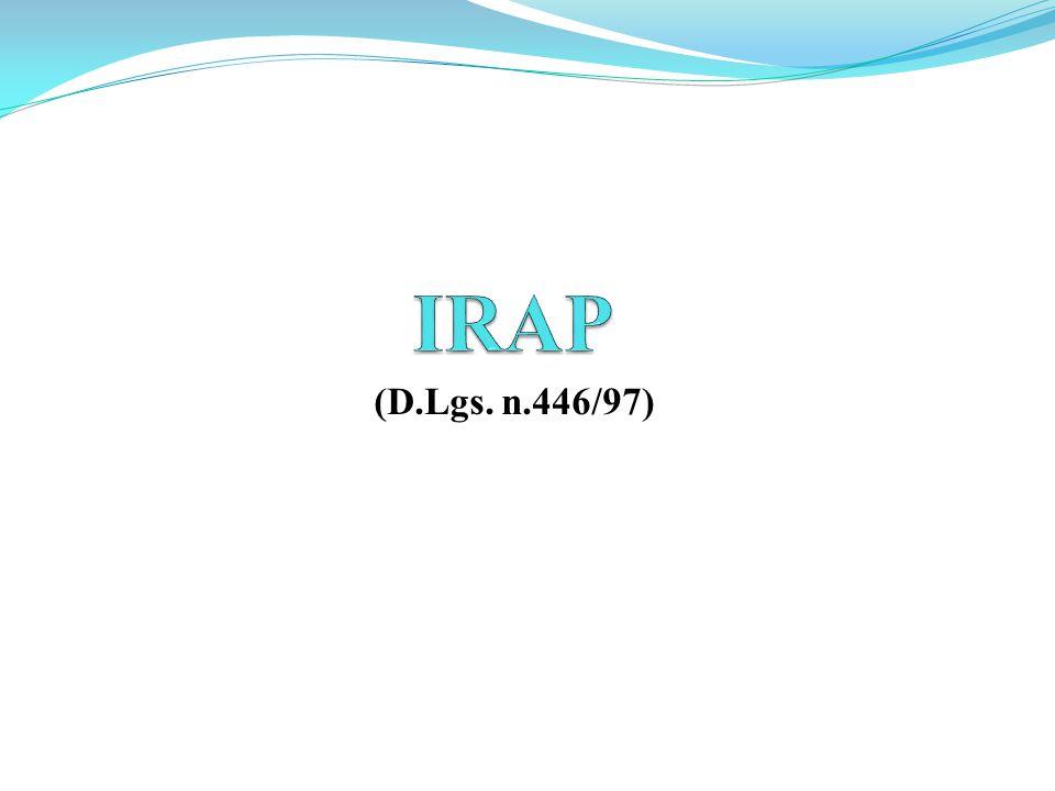 IRAP (D.Lgs. n.446/97)