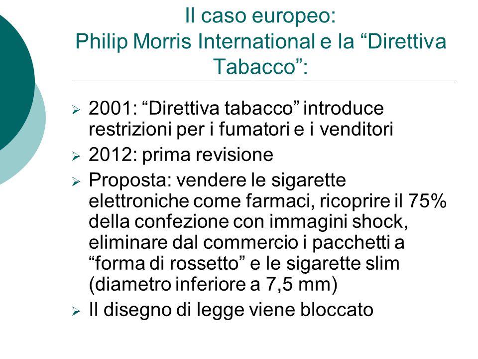 Il caso europeo: Philip Morris International e la Direttiva Tabacco :