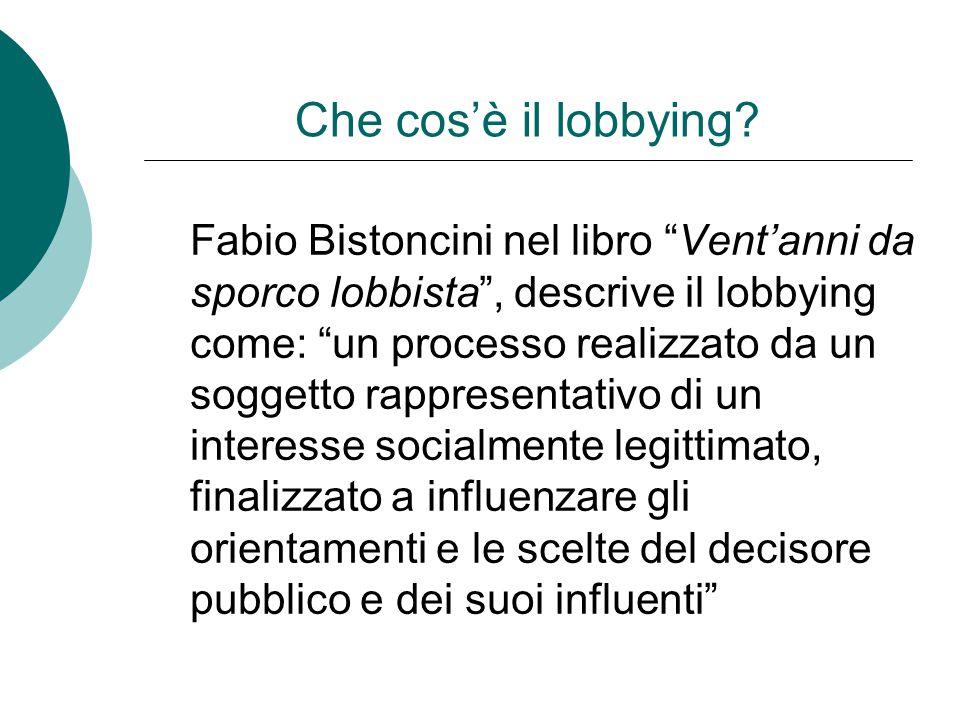 Che cos'è il lobbying