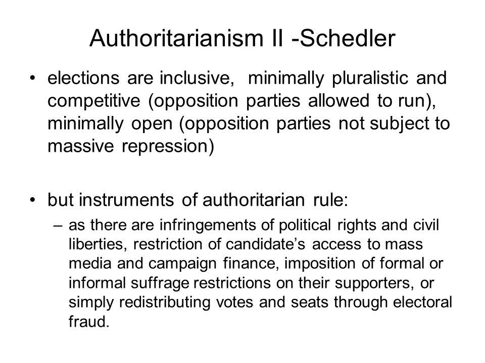 Authoritarianism II -Schedler