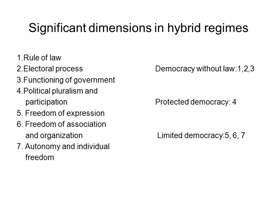 Significant dimensions in hybrid regimes