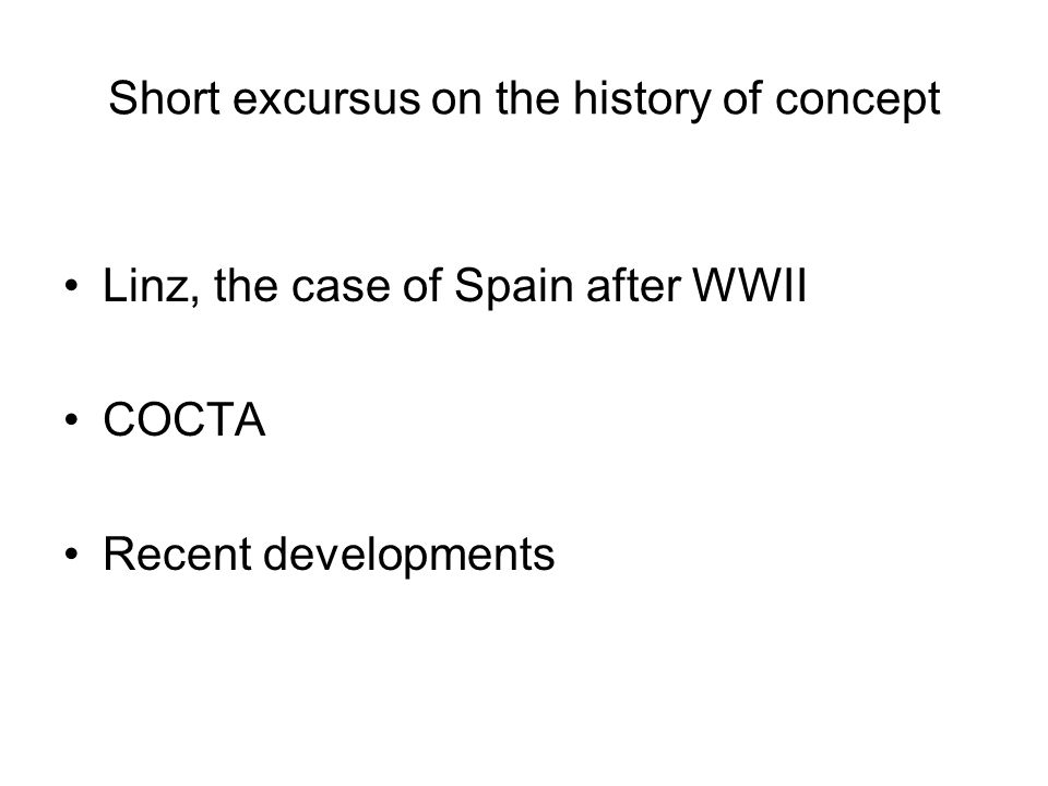 Short excursus on the history of concept