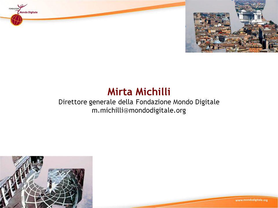 Direttore generale della Fondazione Mondo Digitale