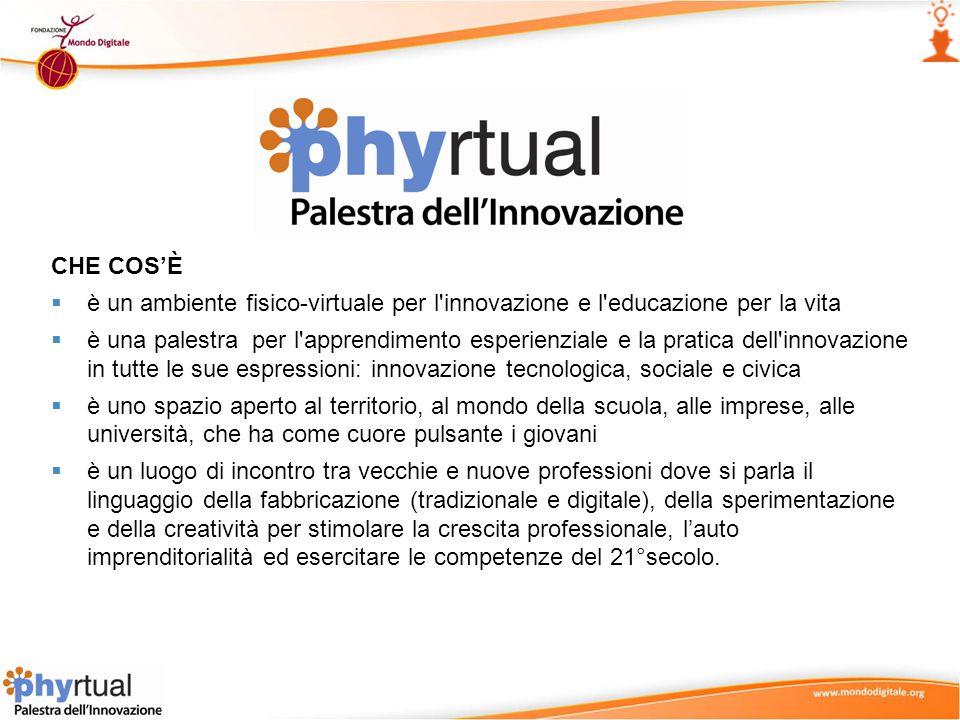 CHE COS'È è un ambiente fisico-virtuale per l innovazione e l educazione per la vita.