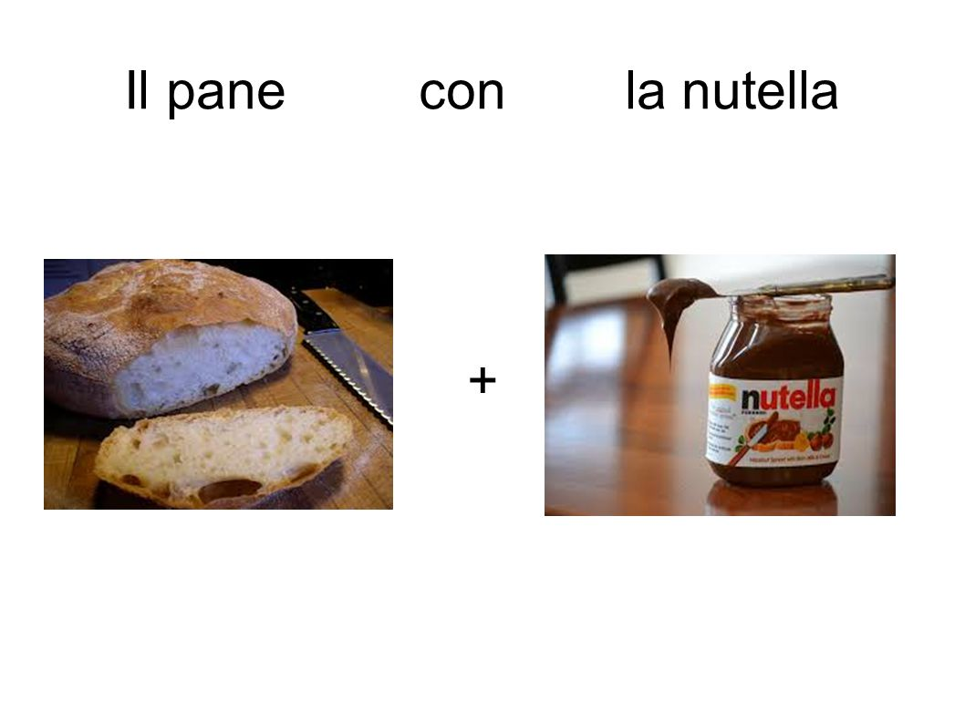 Il pane con la nutella +