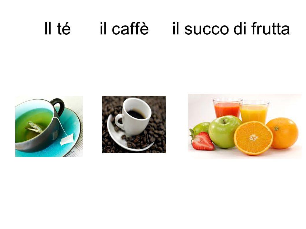 Il té il caffè il succo di frutta