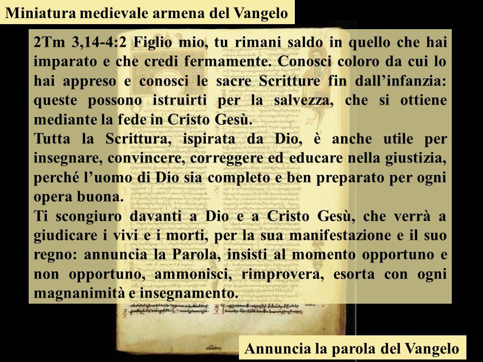 Miniatura medievale armena del Vangelo