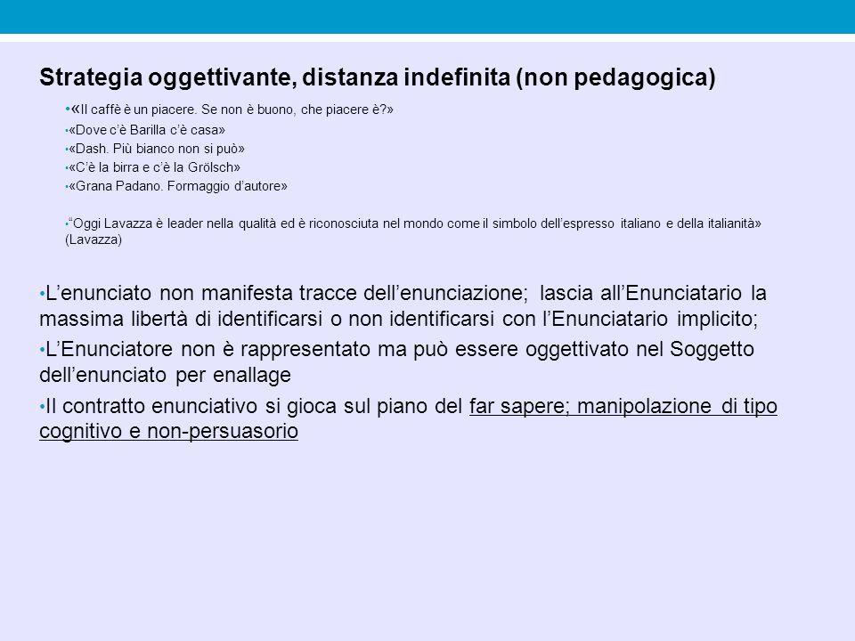 Strategia oggettivante, distanza indefinita (non pedagogica)