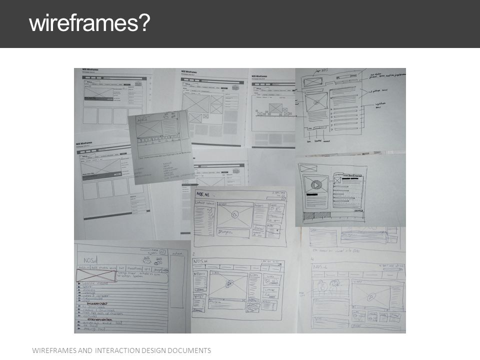 wireframes Everyone knows what they are