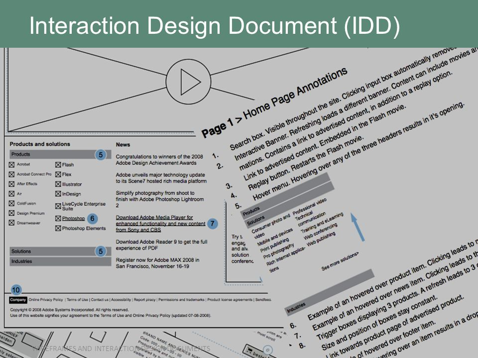 Interaction design documents