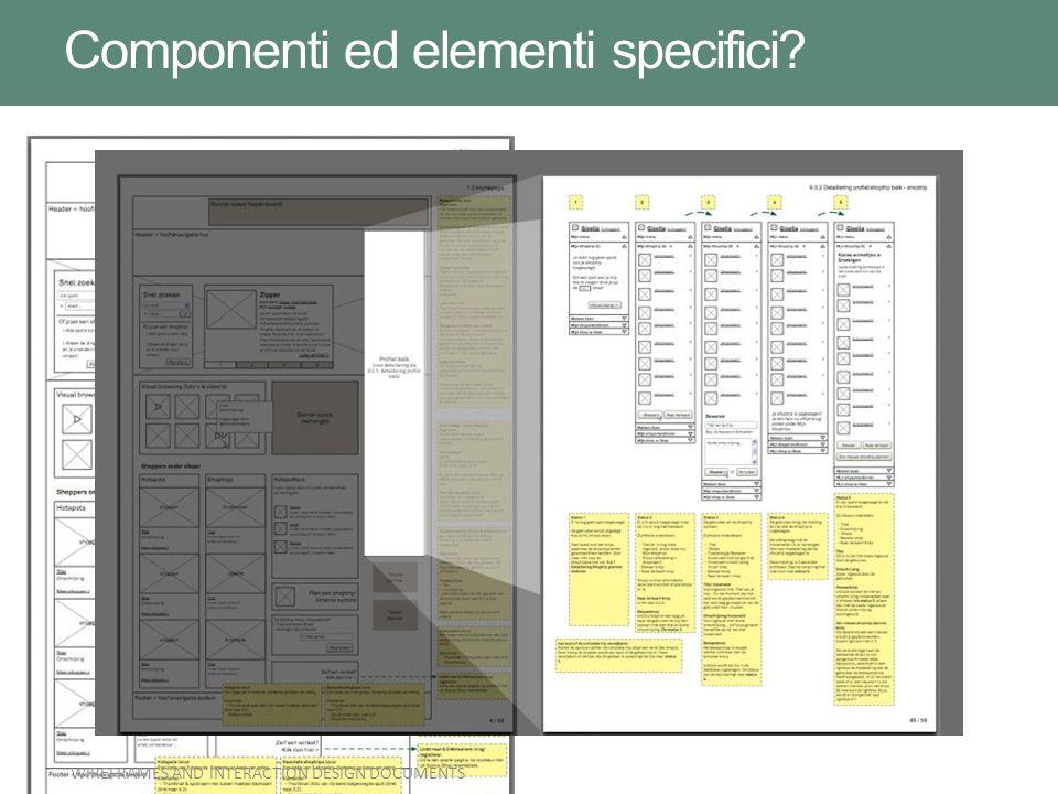 Componenti ed elementi specifici