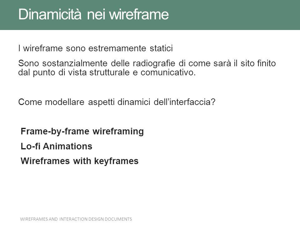 Dinamicità nei wireframe