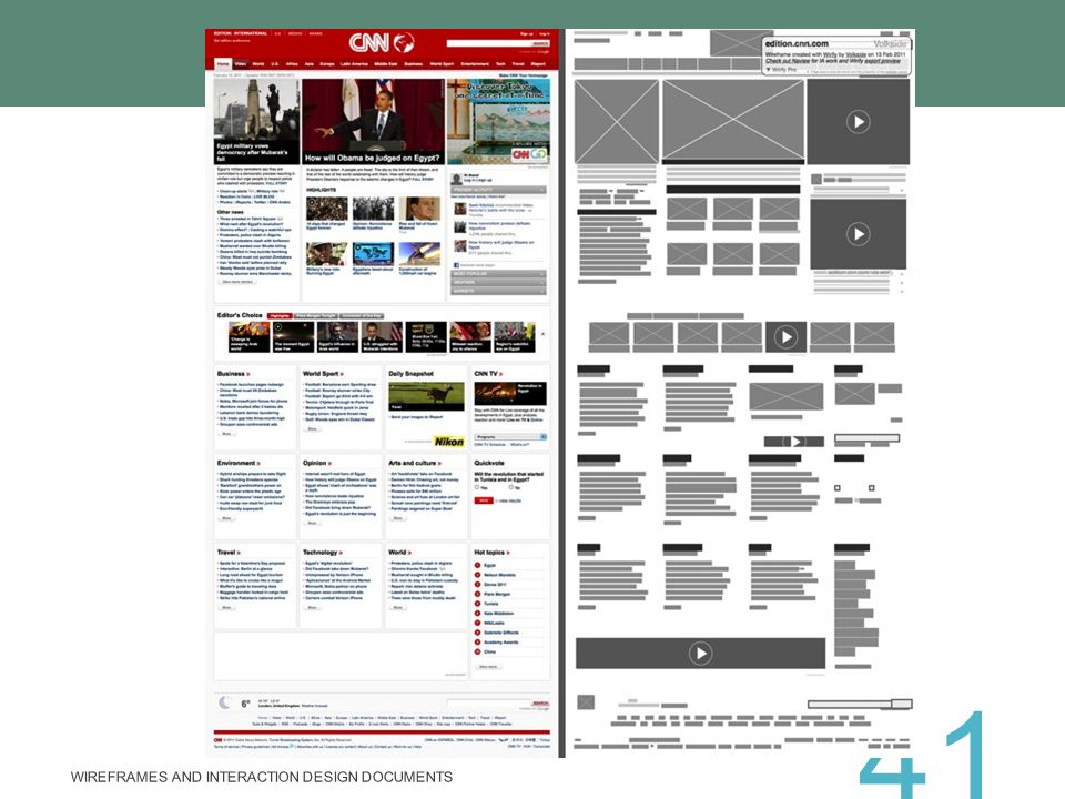 Wireframes and Interaction Design Documents