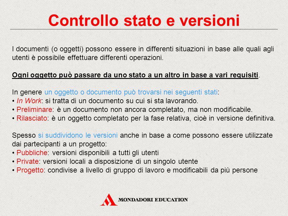 Controllo stato e versioni