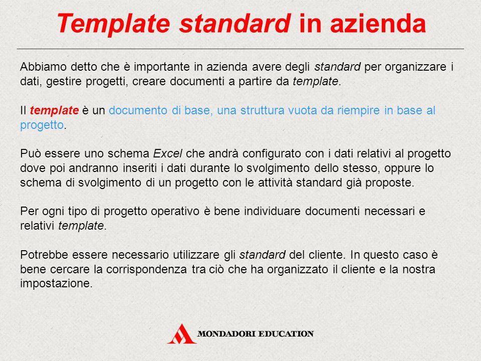 Template standard in azienda