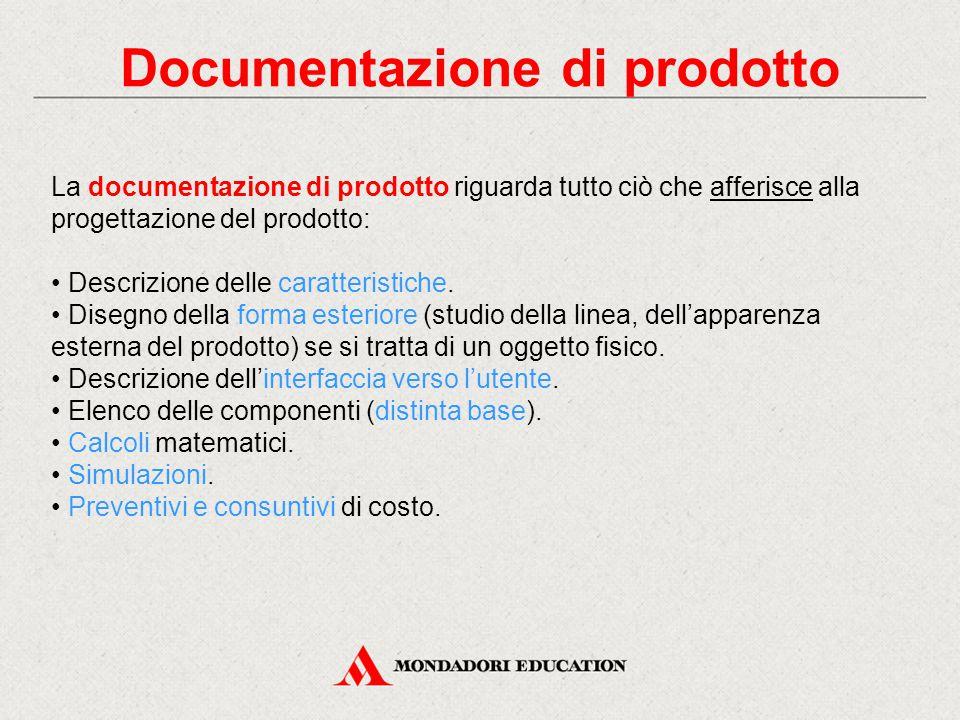 Documentazione di prodotto
