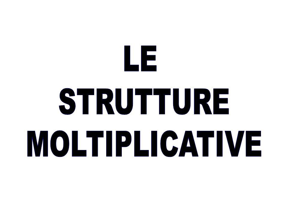 LE STRUTTURE MOLTIPLICATIVE
