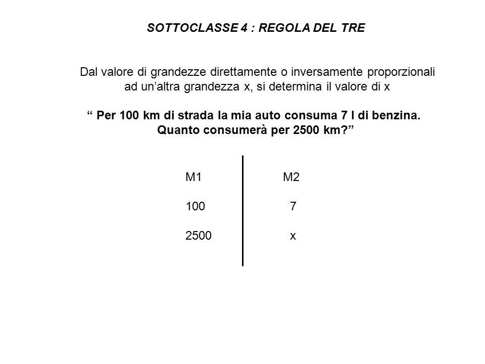 SOTTOCLASSE 4 : REGOLA DEL TRE