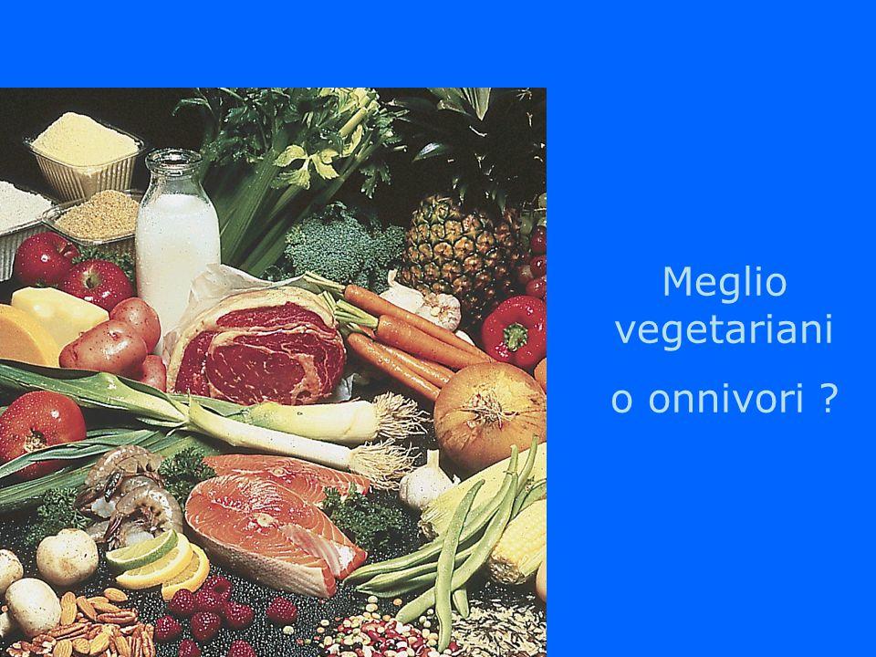 Meglio vegetariani o onnivori