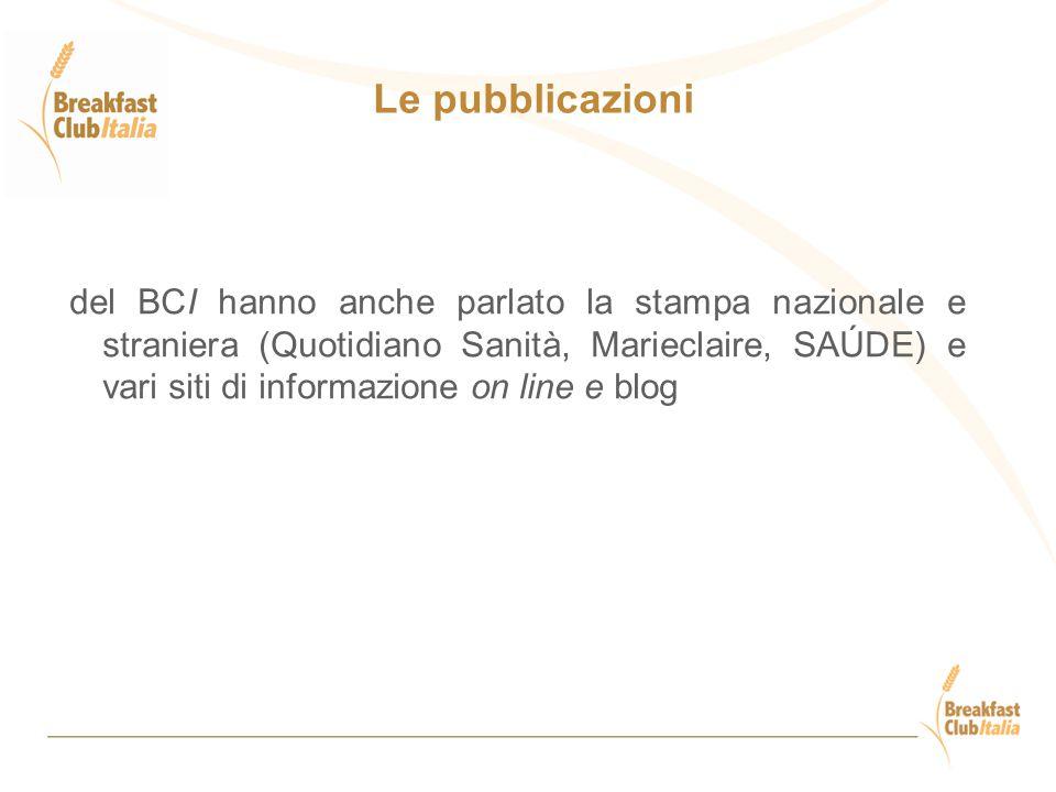 Le pubblicazioni