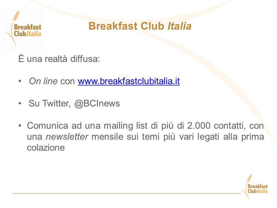 Breakfast Club Italia È una realtà diffusa: