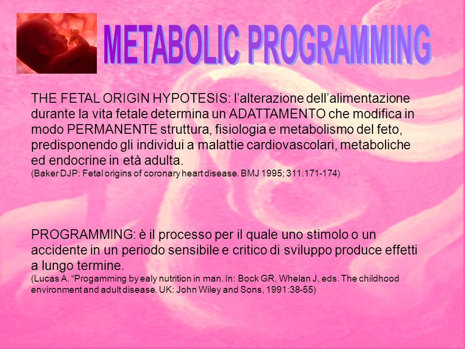 METABOLIC PROGRAMMING