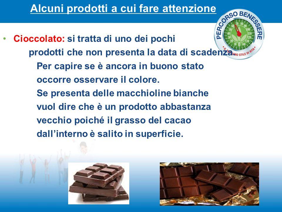 Alcuni prodotti a cui fare attenzione