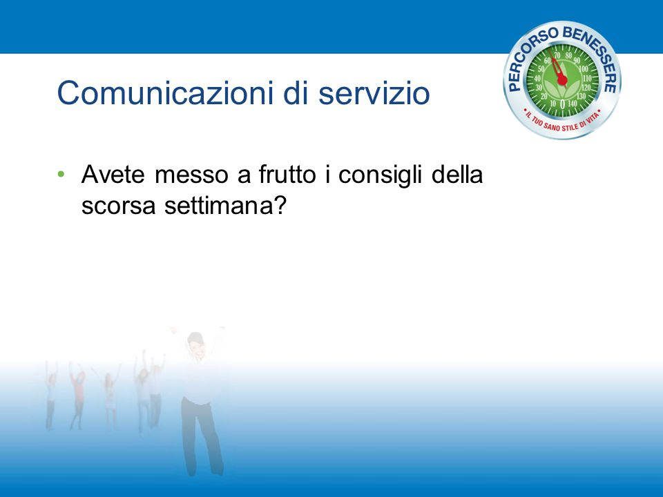 Comunicazioni di servizio