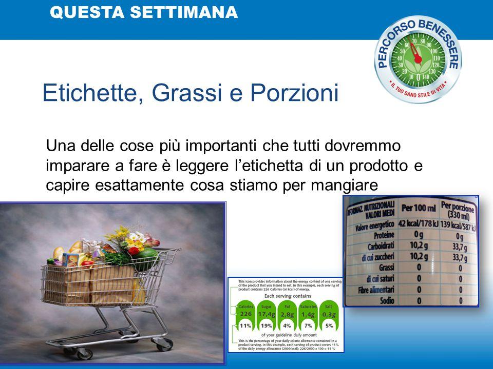 Etichette, Grassi e Porzioni