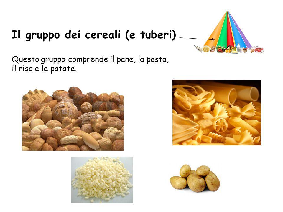 Il gruppo dei cereali (e tuberi)